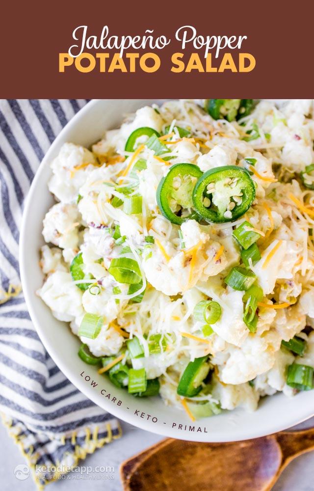 Keto Jalapeño Popper Potato Salad