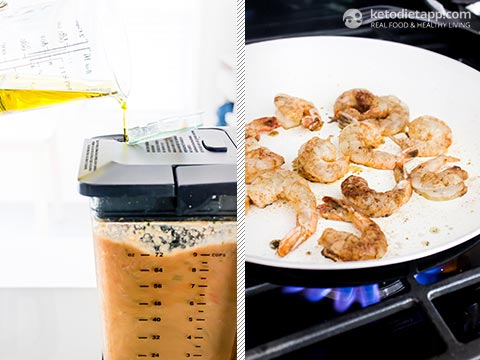 Summer Mexican Low-Carb Shrimp Gazpacho