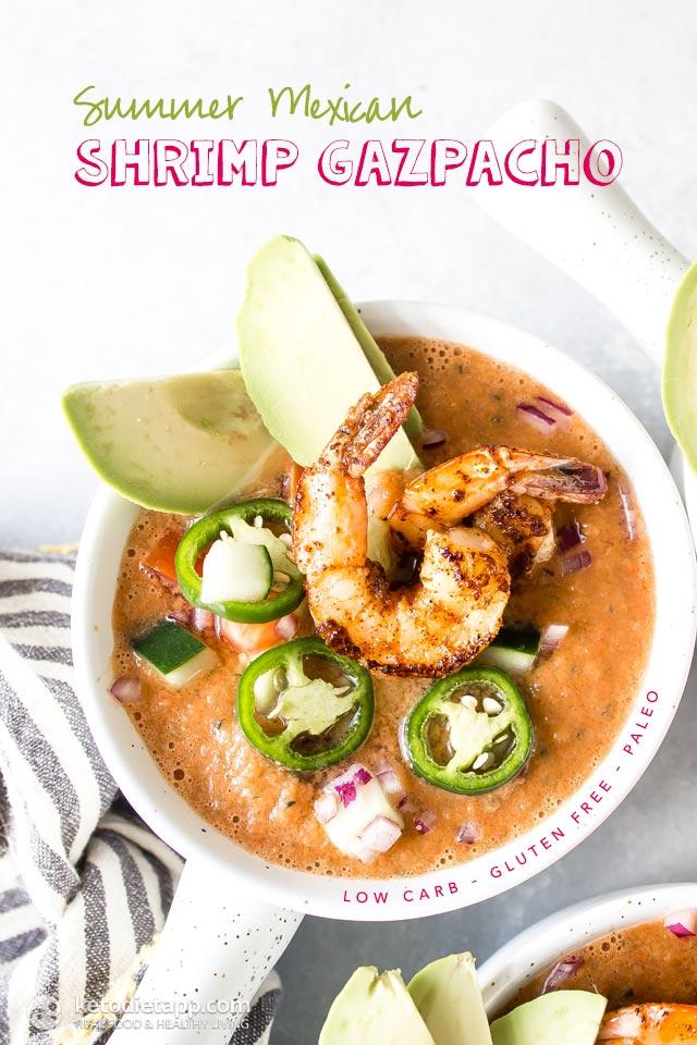 Low-Carb Mexican Shrimp Gazpacho