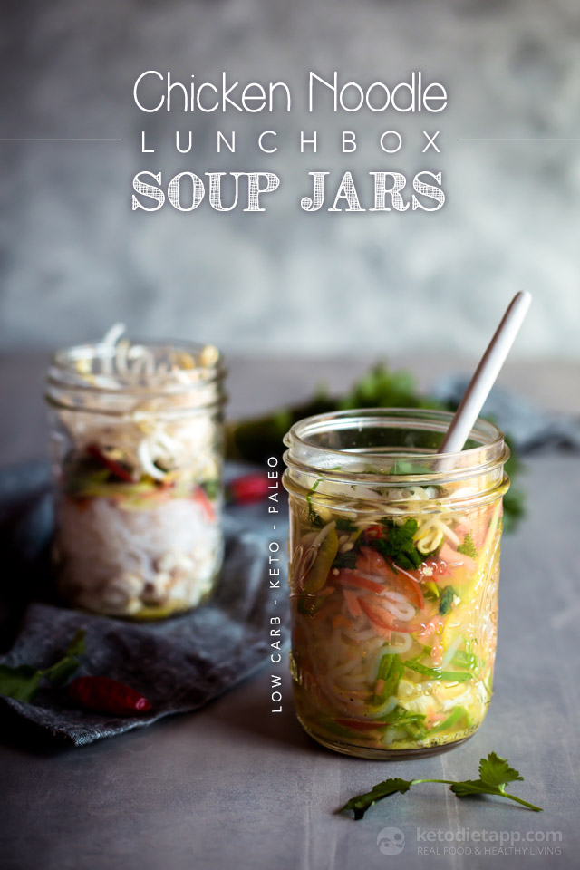 Keto Chicken Noodle Soup Jars