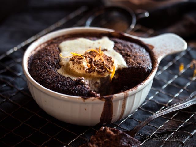Keto Chocolate & Orange Self-Saucing Pudding