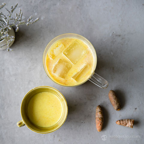 Keto Golden Turmeric Iced Latte