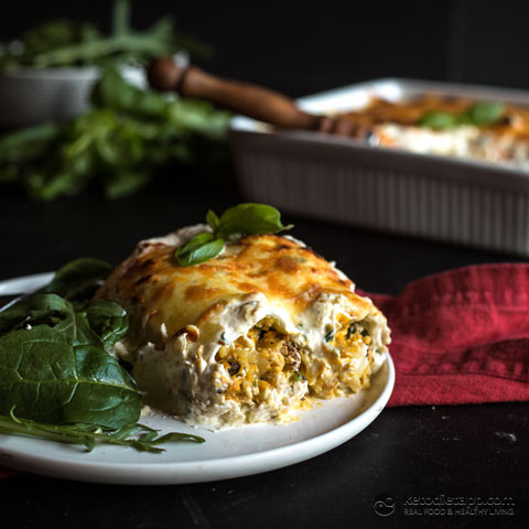 Keto Pumpkin & Spinach Cannelloni