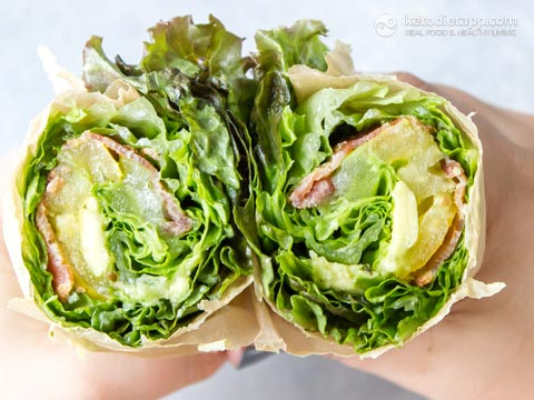 Keto Ranch BLT Lettuce Wrap