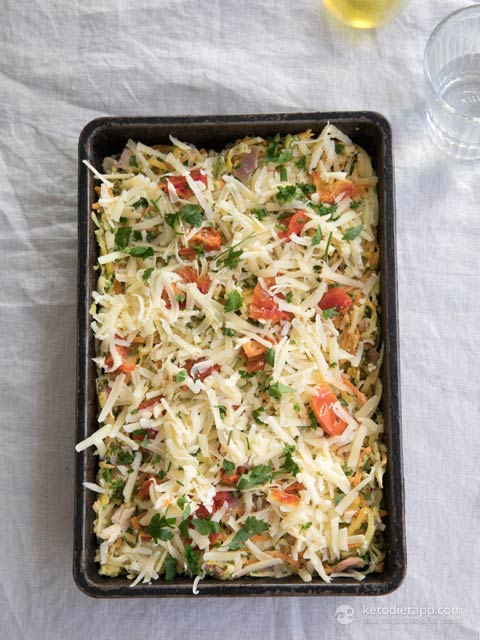 Low-Carb Bacon & Cheese Vegetable Gratin