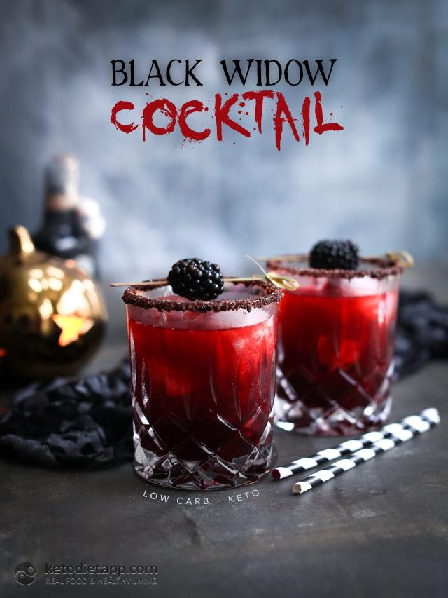Low-Carb Black Widow Cocktail