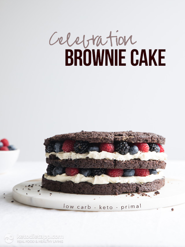 Keto Celebration Brownie Cake