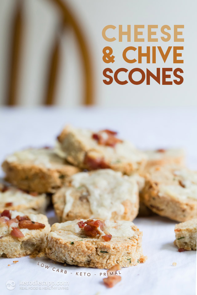 Keto Cheese & Chive Scones