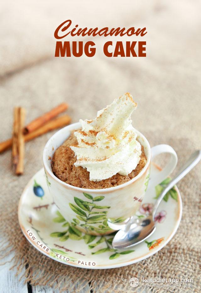 Cinnamon Keto Mug Cake   The KetoDiet Blog