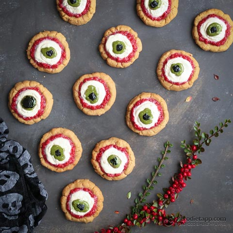 Spooky Eyeball Keto Cookies