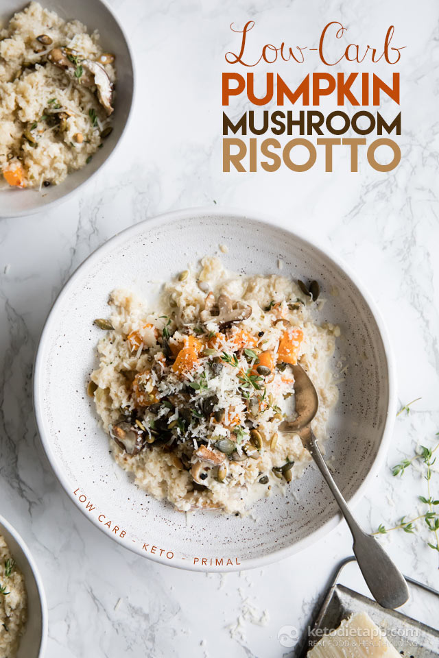 Low-Carb Pumpkin & Mushroom Risotto