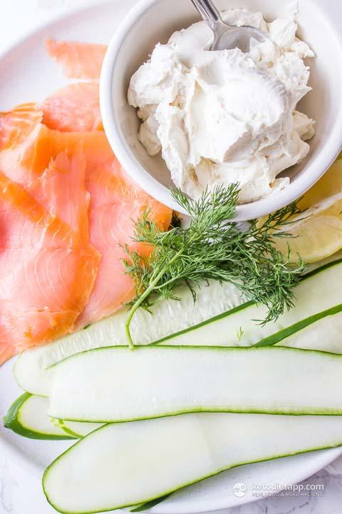 5-Ingredient Salmon Mousse Cucumber Rolls