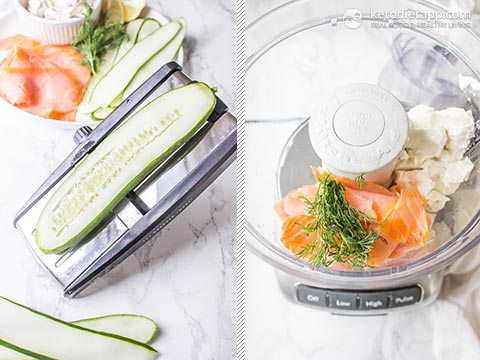 5-Ingredient Salmon Mousse Cucumber Rolls