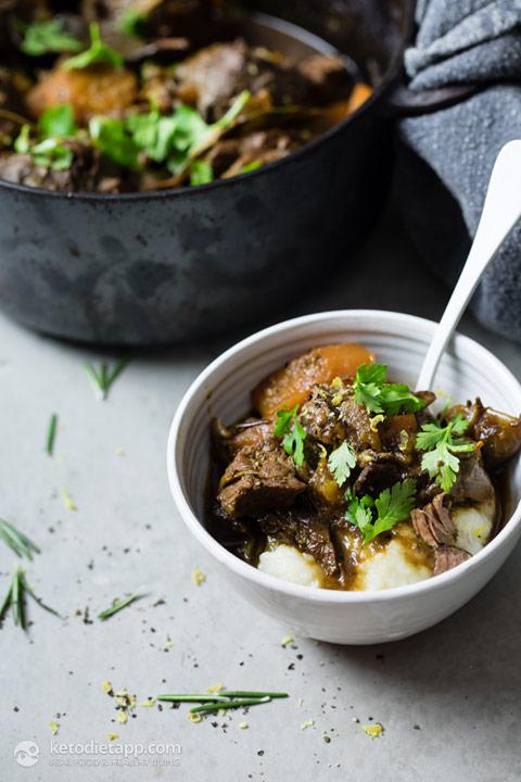 Keto Beef Stew with Herby Dumplings