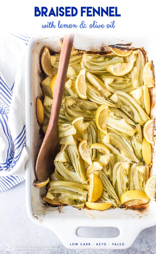 Low-Carb Braised Fennel with Lemon