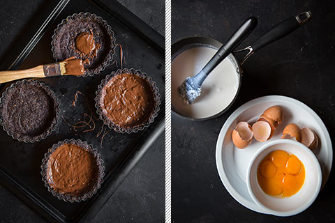 Low-Carb Chocolate & Coconut Custard Tarts