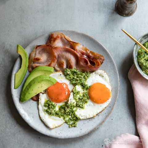 Keto Green Eggs & Bacon