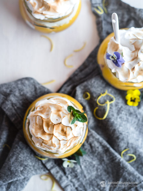 Low-Carb Lemon Meringue Parfaits
