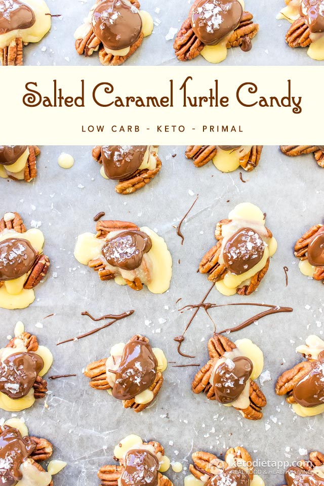 Keto Salted Caramel Turtle Candy