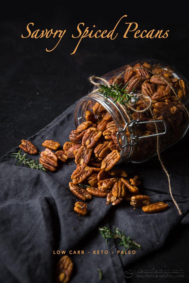 Keto Savory Spiced Pecans
