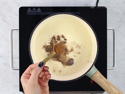 Creamy Homemade Keto Eggnog