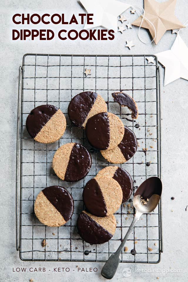 Keto Chocolate Dipped Cookies