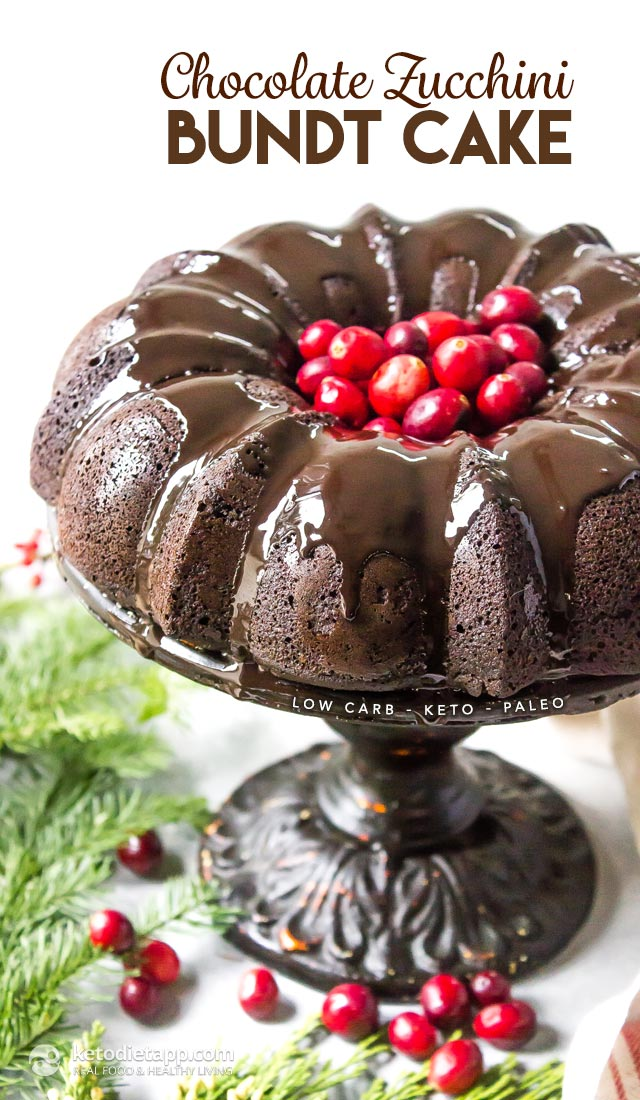 Chocolate Zucchini Bundt Cake Low Carb