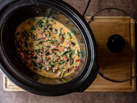 Keto Ground Beef Slow Cooker