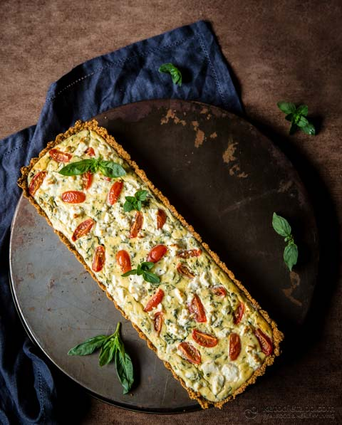 Keto Tomato & Goat's Cheese Quiche