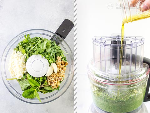 Homemade  Arugula & Mint Pesto