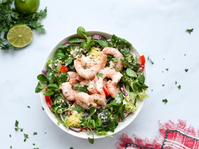 Low-Carb Chipotle Prawn & Broccoli Salad