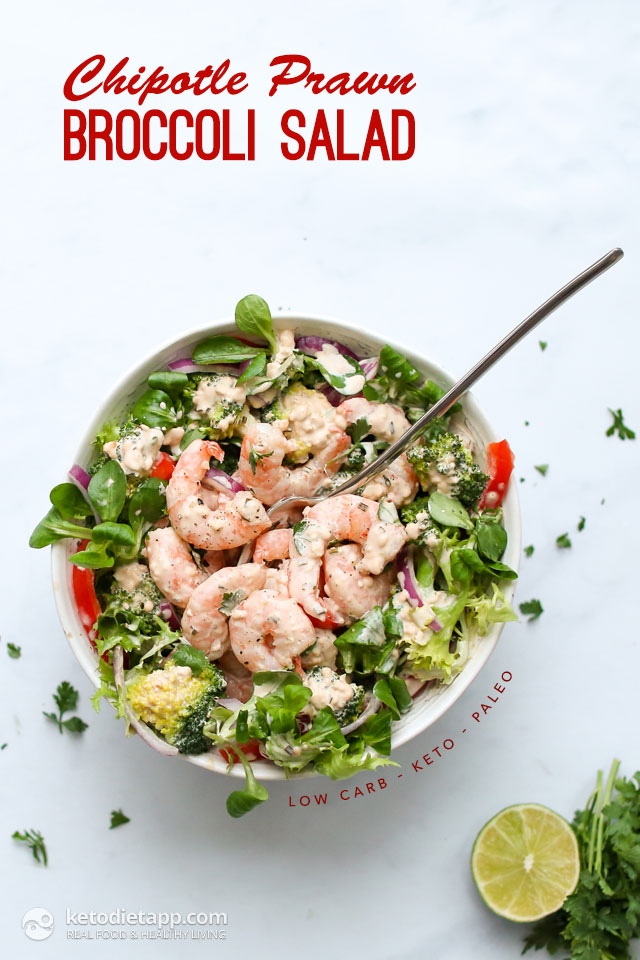 Low-Carb Chipotle Prawn & Broccoli Salad
