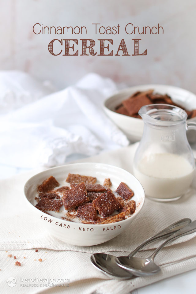 Keto Cinnamon Toast Crunch Cereal