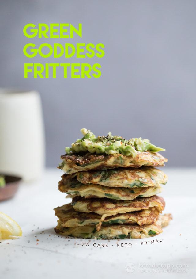 Keto Green Goddess Fritters