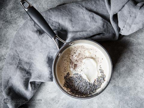 Sugar-Free Lavender Panna Cotta