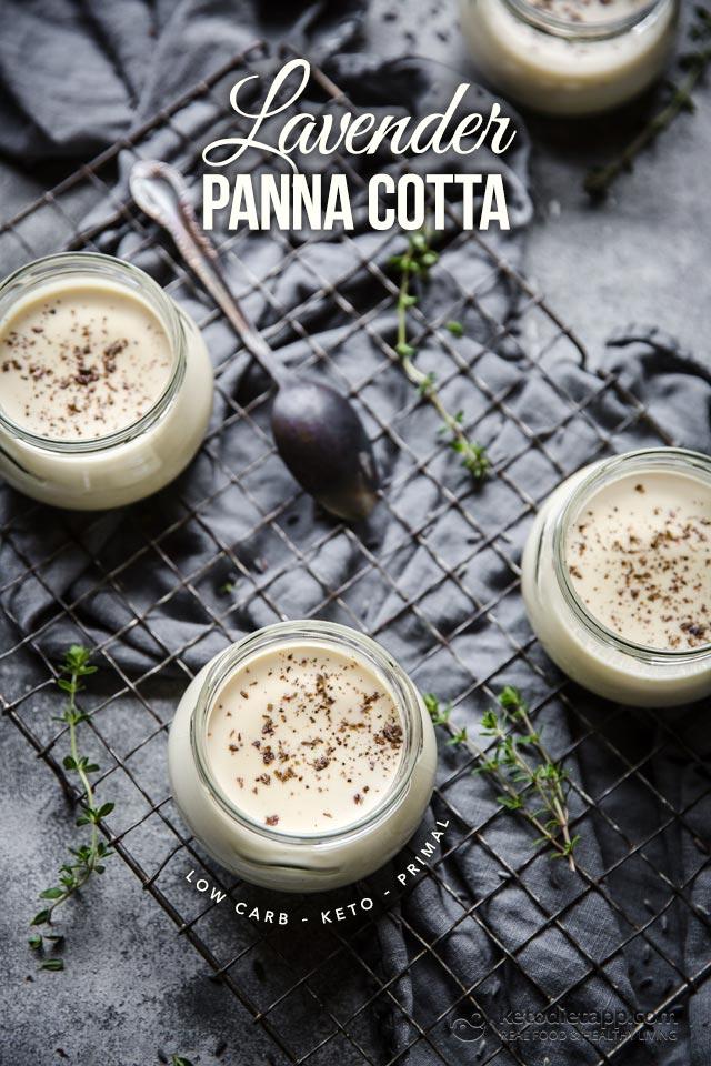 Low-Carb Lavender Panna Cotta