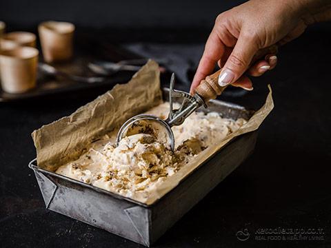 Keto Brown Butter Pecan Ice Cream