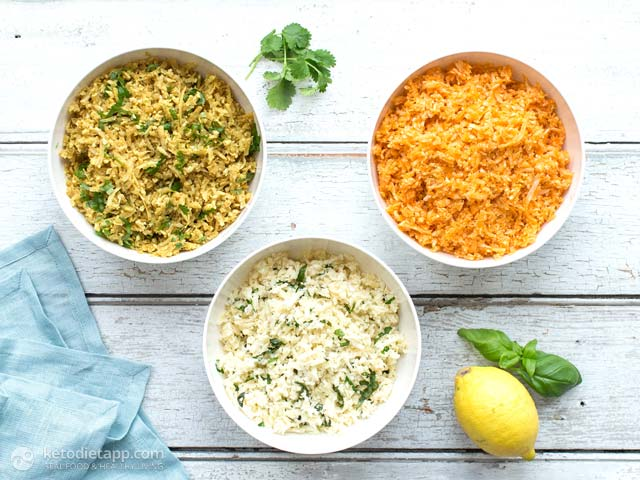 Low-Carb Cauliflower Rice 3 Ways