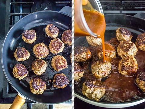 Keto BBQ Liver Meatballs