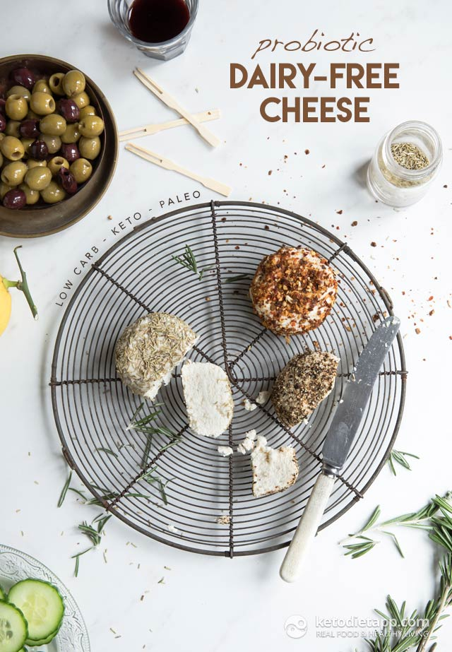Probiotic Dairy-Free Keto Cheese