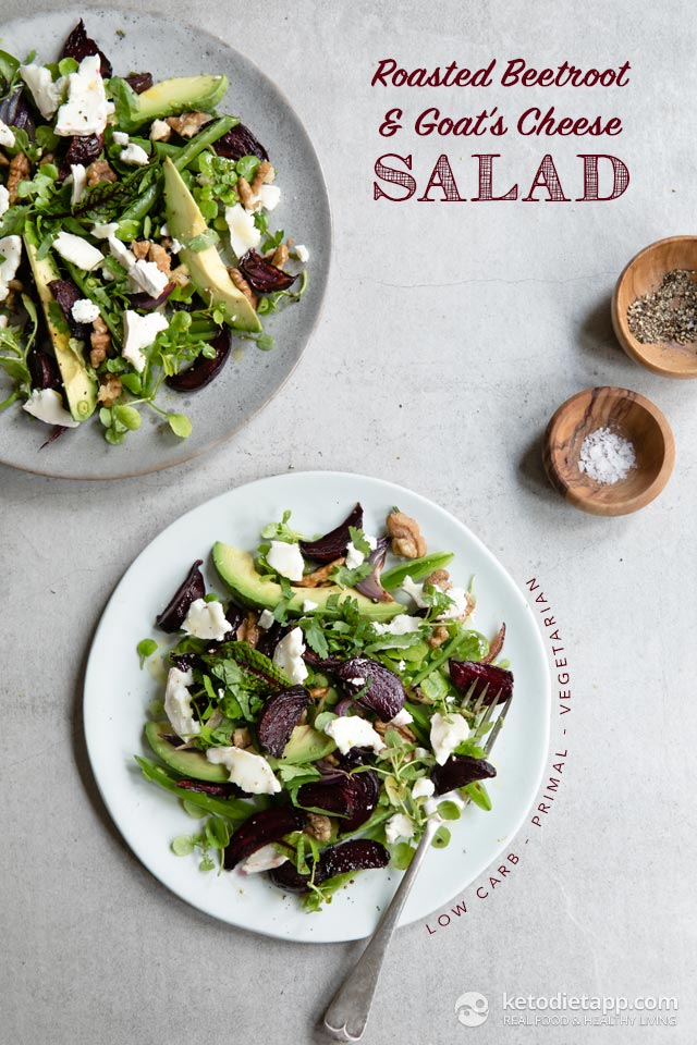 Roasted Beetroot & Goat's Cheese Salad