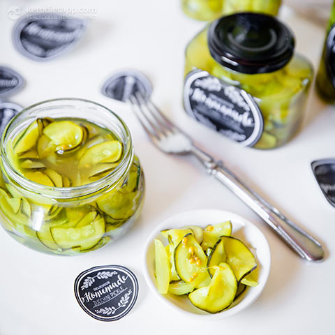 Homemade Low-Carb Zucchini Pickles