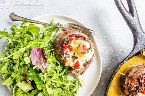 Keto Mediterranean Steak Pinwheels