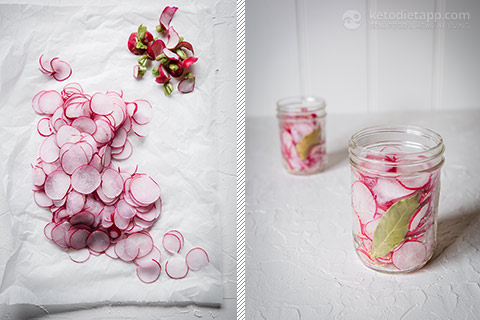 Low-Carb Pickled Radishes