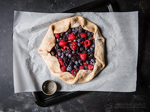 Low-Carb Summer Berry Galette