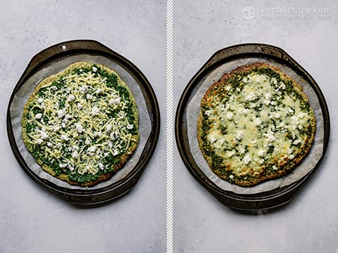 Low-Carb Green Pesto Pizza