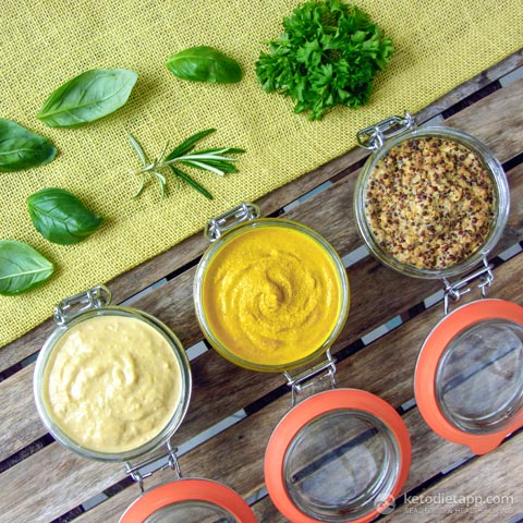 Keto & Paleo Mustard - Three Ways