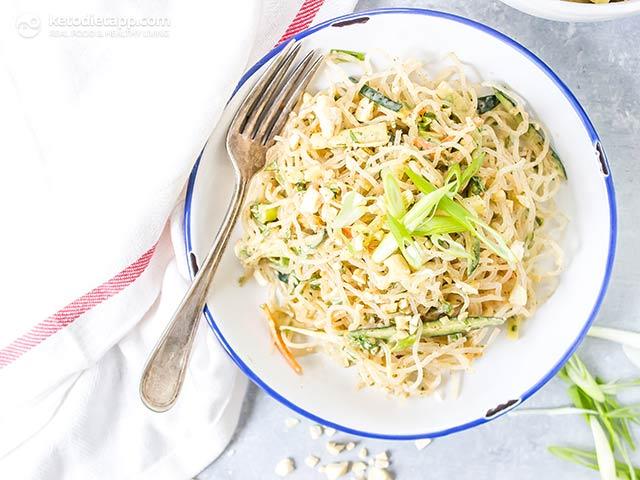 Keto Vegan Kelp Noodle Salad