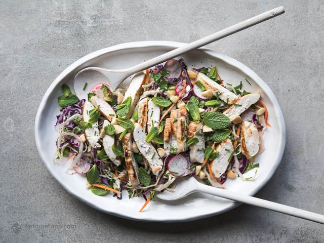 Low-Carb Thai Chicken Salad Bowl