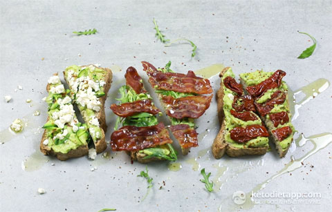 Keto Toasts Three Ways